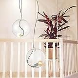 s.LUCE Glaskugel Sphere 30 mit loser Fassung Glas-Pendelleuchte Glas-Hängelampe Glas-Pendelleuchte Design-Kugellampe
