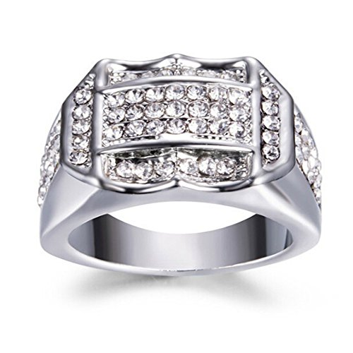 LILIHOT Schmuck Herren-Ring Diamant Insert männlich Herrenring Businessring EIN Geburtstagsgeschenk Geschenk Klassiker Retro Charm Herrenring