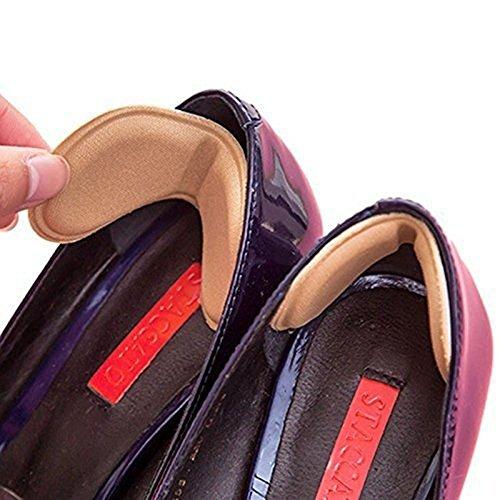 Fersenhalter Fersenpolster Fersenschutz Einlegesohlen HighHeels Prevent Rubbing Heel-Schuhe Heel Aufkleber Anpassungen die Länge der Schuhe Schuhfersenpolster 4 Paare