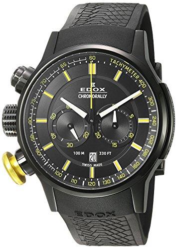 EDOX Orologio Cronografo Quarzo Uomo con Cinturino in Gomma 10302-37NJ-NOJ3
