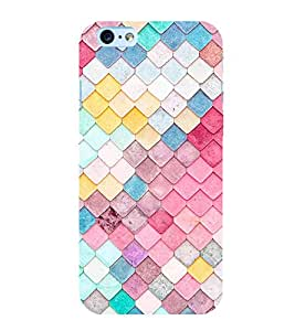Fuson Premium Back Case Cover Colourful pattern With pink Background Degined For Apple iPhone 6S