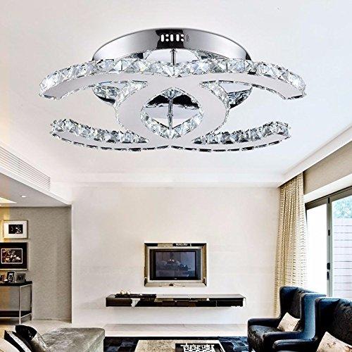 Briefe Glas (CNIUACeiling Led Deckenleuchte Wohnzimmer Lampe kristall Lampe Brief Typ sog Decken Typ weißes Licht 50 * 30. Deckenbeleuchtung)