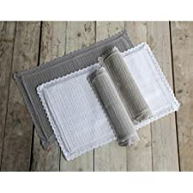 Blanc Mariclo - Conjunto de 4 pequeñas alfombras de baño Palladio