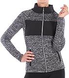 BD Damen Jacke Workout Sportjacke Laufjacke Fitnessjacke (S/M, 02)