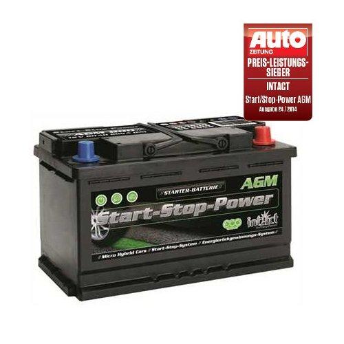 Intact AGM 800 Start Stop Autobatterie 12V 80 Ah 800 A Preis-Leistung-SIEGER GTÜ 2014