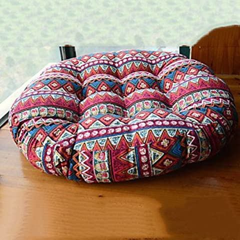 Sud-Est asiatico Stile Country design rotondo Lino Chair Pad