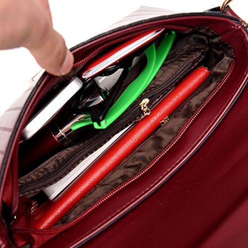 LAIDAYE Ms. Schulter Messenger Handtasche Black