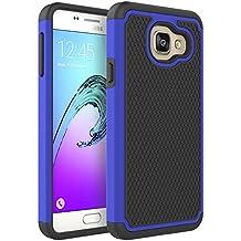 Coque Galaxy A3 2016, Pasonomi® Samsung Galaxy A3 2016 Coque Housse Étui Hybride Armour Couche 2 en TPU + PC Anti-Chocs dur Coque pour Samsung Galaxy A3 2016, Bleu