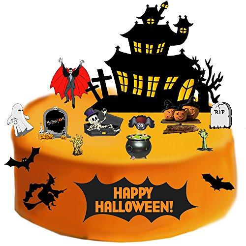 Halloween Stand Up Szene aus Essbar Wafer Papier–Perfekt für Dekorieren Ihre Dekorationen einfach zu verwenden