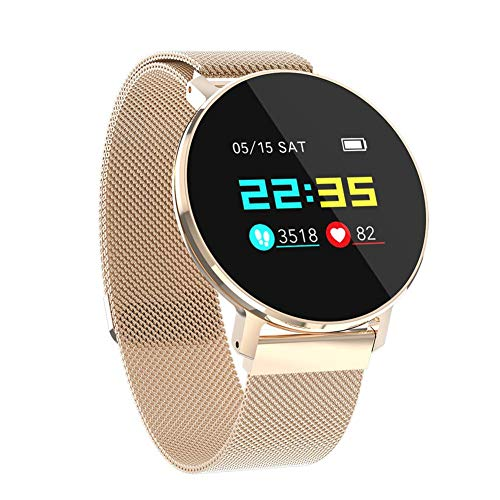 Dream-cool Smartwatch Herzfrequenz-Monitor T5 IP68 Wasserdichte Sport Bunte Smartwatch Schlafüberwachung Sport Schritte Zählen Smartwatch Fitness Tracker, Rose Gold