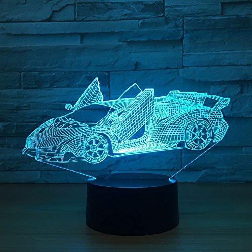 BDQZ Sportwagen Bunte 3d Kleine Nachttischlampen Licht Touch Control 3d Led Visuelle Lampe Hersteller Direkte Versorgung -