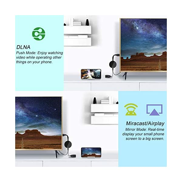 YEHUA-Dongle-daffichage-WiFi-HDMI-1080P-Wireless-Rcepteur-daffichage-Support-Miracast-Airplay-DLNA-Compatible-avec-Google-Chromecast-Android-iOS-Phone-PC-TV-Moniteur-Projecteur