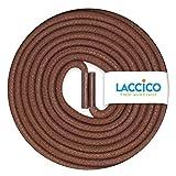 LACCICO Finest Waxed Laces - Durchmesser 2,5 mm, robuste gewachste premium Schnürsenkel; Farbe:Braun, Länge:120 cm