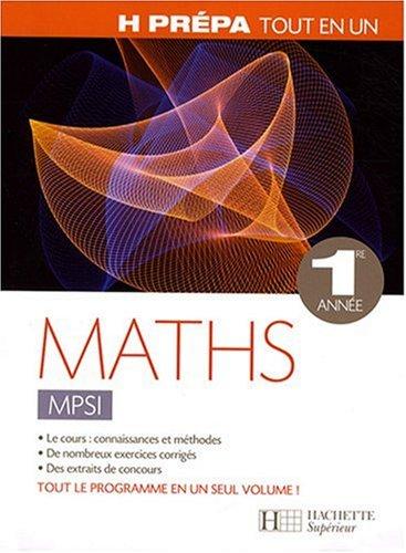 Maths MPSI 1e année par Allano-Chevalier+Oud