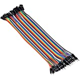 40P Conductor Male to Female Jumper Wire 20CM,40P Color Wires Ribbon Cable