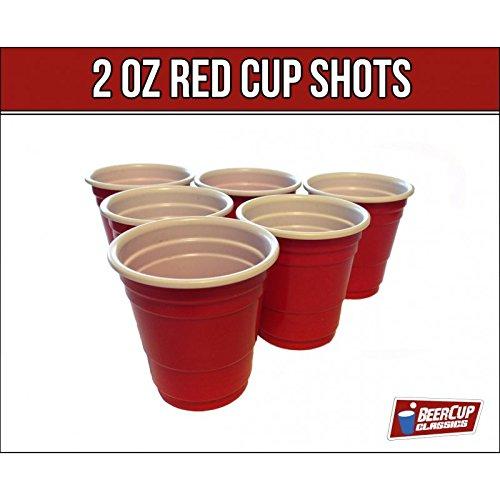 Red Cup Shots Schnapsgläser Kurzer Shot 2Oz 5cl Rote Becher Mini Beer Pong Becher (100 Stk)