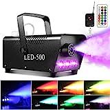 Upgraded Fog Machine, AGPtEK Smoke Machine with 13 Colorful LED Lights and RGB