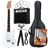 Rocktile Banger's Pack Set Chitarra Elettrica, Bianco