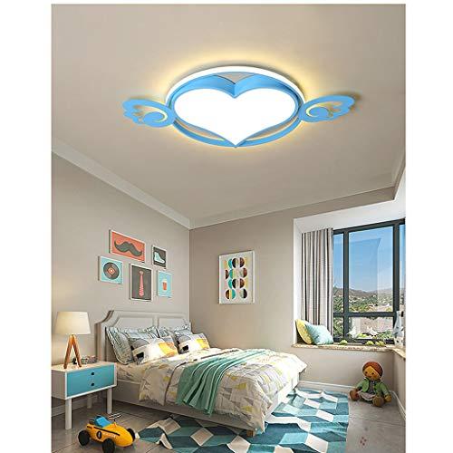 LIN HE SHOP Kinderzimmer Deckenleuchten, Jungen Mädchen Pentagon Led Kronleuchter, Einfache Moderne, für Schlafzimmer Wohnzimmer Kindergarten (Farbe : Blau, größe : 42cm)
