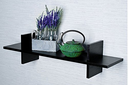 Black Wooden Display Wall Shelves/ Wall Shelf For Home Décor  available at amazon for Rs.495