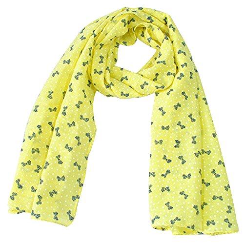 zedtom-Candy-colori-bambina-sciarpa-sciarpe-moda-Cute-Calda-140-40-giallo-Yellow-140cm40cm