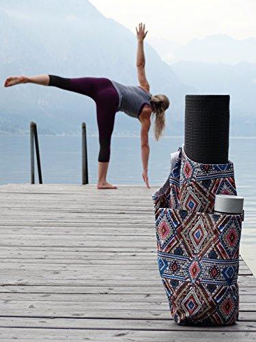 Premium Yoga con tracolla–Yoga Tappetini Per Tutti I Tipi Di Yoga Della Formazione Di Tappetini–Borsa a tracolla con scomparto principale per Yoga Asciugamano, Yoga Block O Sport di tasca interna  Fantasia a scacchi