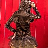 Transwen Weihnachtselch Cosplay Kostüme Costüme Weihnachten für Damen Braun Elch Festliches Kleid mit Ohren +Halskette +Umhang Hut Set Kleidung Club Party Weihnachtskostüm Geweih Party Kleid Anzug