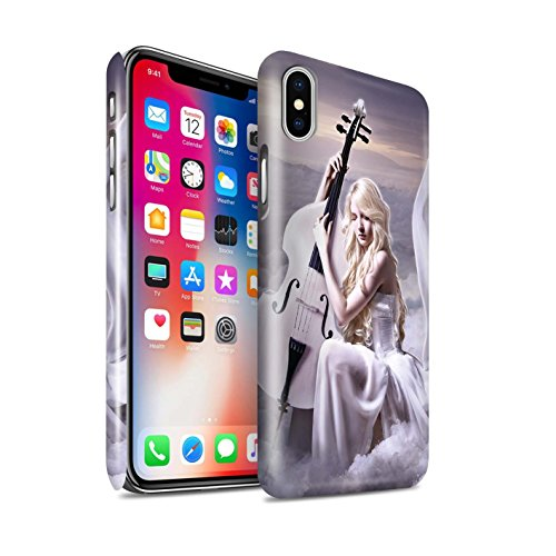 Officiel Elena Dudina Coque / Clipser Brillant Etui pour Apple iPhone X/10 / Pack 6pcs Design / Réconfort Musique Collection Violoncelle/Nuages