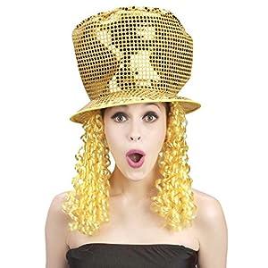Rire et Confetti Reír y confeti - Disfraces de accesorios - - Fiedis046 Disco de pelo del sombrero Ahora