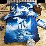 tonywu Bettwäsche Set 100% Polyesterfaser Weiche vierteilige Bettdecke Sternenhimmel Bettbezug Für Zuhause 3 stücke 240x220 cm C