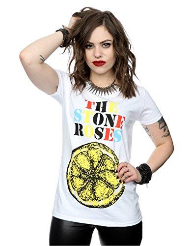 Ladies Official Stone Roses Lemon Debut Album T-shirt, White - XS to XXL