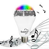 SweetLF LED Lampe E27 6W Bluetooth LED Glühbirne mit Lautsprecher zu Entspannten Musikgenuß Smartphones Dimmbare Steuerung für Android und Apple iOS Smart Phone