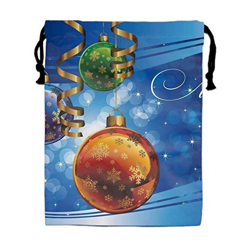 Einst Holiday Christmas Ornaments Merry Ribbon Unisex Outdoor Gym Sack Bag Travel Turnbeutel Bag