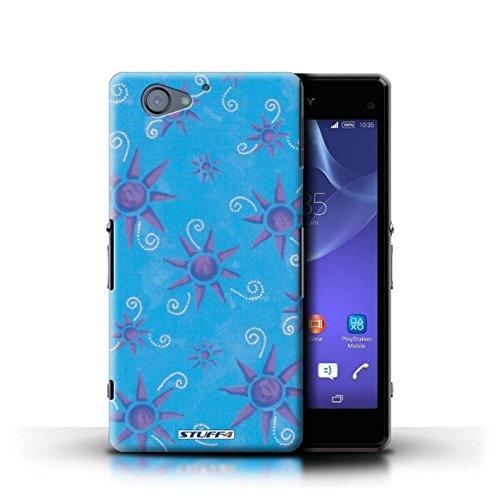 Kobalt® Imprimé Etui / Coque pour Sony Xperia A2 / Bleu/Violet conception / Série Motif Soleil Bleu/Violet