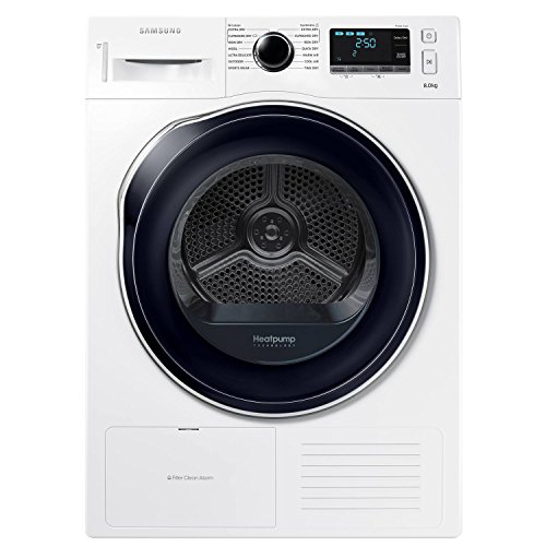 Samsung DV80K6010CW/EU A++ 8kg 3 Temps Condenser Tumble Dryer with Timer in White