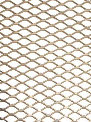 Raid HP 170080 Renngitter Streckgitter aus Aluminium silber eloxiert 125 cm x 20 cm