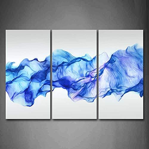 Artistico Astratto Blu Piace Onda Pittura di arte della parete La stampa su tela di canapa Astratto Quadri d'illustrazione per l'ufficio domestico Decorazione moderna