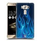 Head Case Designs Blau Feuer Hot Rod Flamme Ruckseite Hülle für Zenfone 3 Deluxe 5.5 ZS550KL