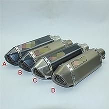 Tubo de Escape Universal con silenciador,Accesorios de Modificación para Motocicleta,GY6 CBR CBR125