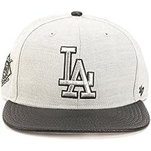 8a94d5c083bd0 Gorra plana gris snapback lisa con logo lateral de MLB Los Angeles Dodgers  de 47 Brand
