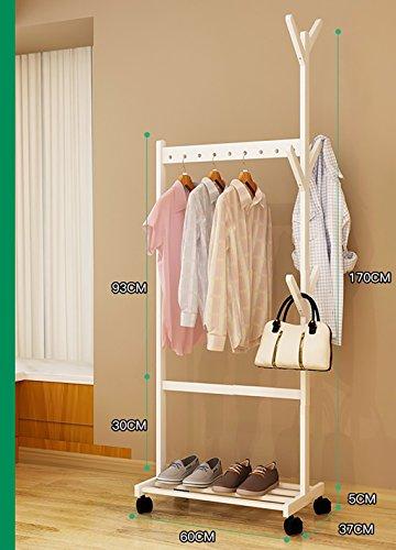 Appendiabiti da terra bianco appendiabiti da camera da letto appendiabiti in legno massello moderno minimalista mobile rack montaggio semplice appendiabiti ( dimensioni : 60cm )