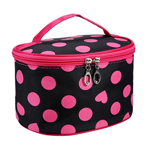 covermason-portable-dot-series-travel-makeup-pouch-cosmetic-storage-toiletry-organizer-bag-hot-pink