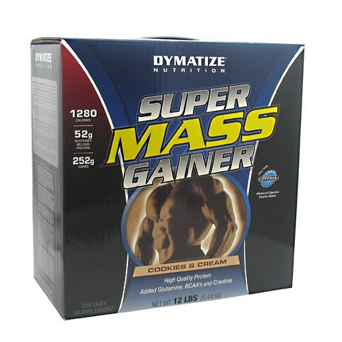 Dymatize Super Mass Gainer Cookies And Cream 12 Lbs (5443 G) by DYMATIZE -