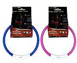 ZAMAC LED Hund/Katzenhalsband, Flashing LED Hundehalsband Wiederaufladbare Light Up Haustier Katze Sicherheitshalsband und einstellbare Größe Fit für alle Hund, Katze und Haustier - 2 Stück