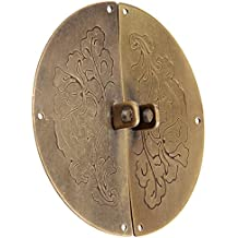 Dophee Retro Kit de cerradura de manija aldaba chino viejo estilo Muebles decorativos herrajes Puerta cerradura