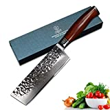 YARENH Mejores Cuchillos de Cocina Profesionales de 17 cm en Damasco japones Acero Cuchillos de Cocinero Buenos Damascus Steel Nakiri