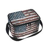 Alaza Retro-Thermo-Lunchtasche: Kühltasche, wiederverwendbar Handtasche, Outdoor-Picknick-Tasche 10x7x6 inches Multi-2