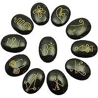 Harmonize Obsidian Oval 11 Stück Set-Form Karuna Reiki Heilende Kristall Symbole Spirituelle Geschenk preisvergleich bei billige-tabletten.eu