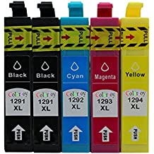 ColorJoy recambio para T1291/T1292/T1293/T1294 XL cartucho de tinta impresión oficial compatible para impresoras EPSON Stylus SX420W/425W/525WD/620FW