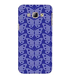 Fabcase transparent blue butterfly Designer Back Case Cover for Samsung Galaxy A7 (2015) :: Samsung Galaxy A7 Duos (2015) :: Samsung Galaxy A7 A700F A700Fd A700K/A700S/A700L A7000 A7009 A700H A700Yd